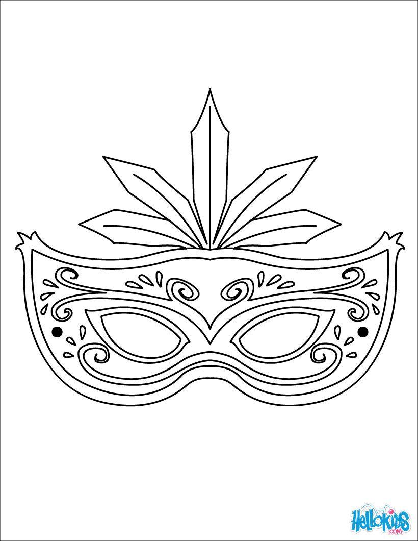 MASKS coloring pages : 9 online printable masks templates