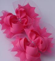 tulle hair bows ideas