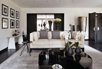 Dark wood floor, grey, and cream! this is exactly what i ...
