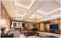 Coffered Ceiling Lighting Pineapple Light Living Room