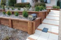 wood ideas for landscape walls | retaining wall ideas ...