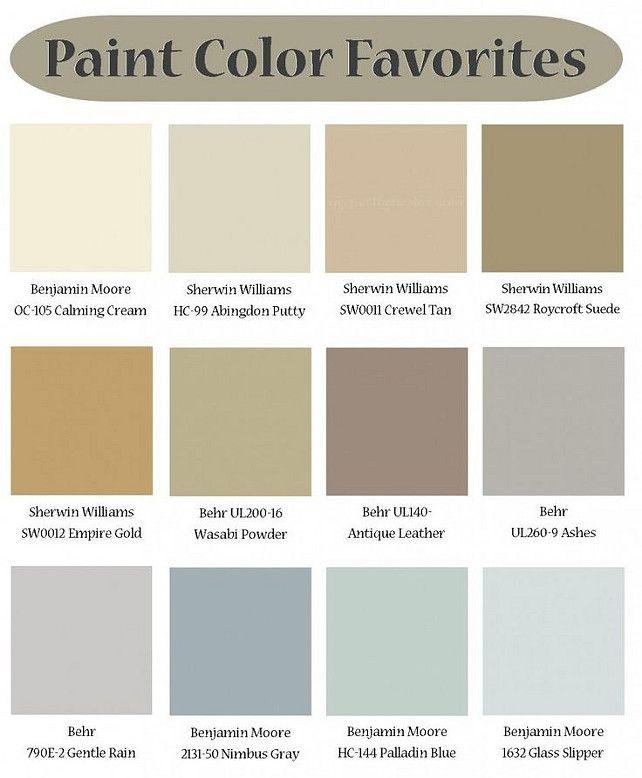 Designers Favorite Paint Color For Interiors Color Palette Ideas