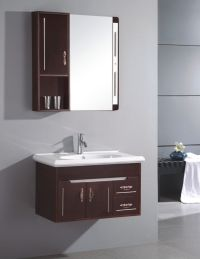 small sink cabinet | Small Wall Mounted Single Sink Wooden ...