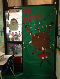 Classroom school door decoration decor reindeer oh deer