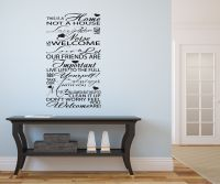sayings wall decals | ... Typography Hallway/Lounge Vinyl ...