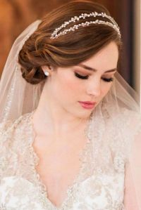 42 Wedding Hairstyles With Veil | Veil, Veil hairstyles ...