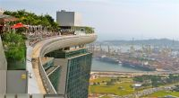 Rooftop swimming pool at the Marina Bay Sands Hotel in ...