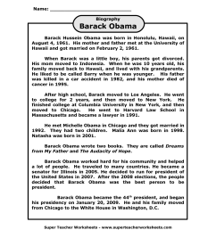 Barack Obama Worksheets For 2nd Grade   Printable Worksheets and Activities  for Teachers [ 1650 x 1275 Pixel ]