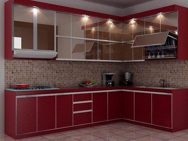 Model Kitchen Set L Mini untuk Dapur Mungil 7  Warna