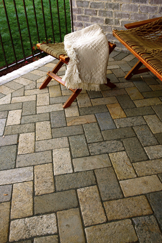 Brick Paver Patio Herringbone 4x8 herringbone patio