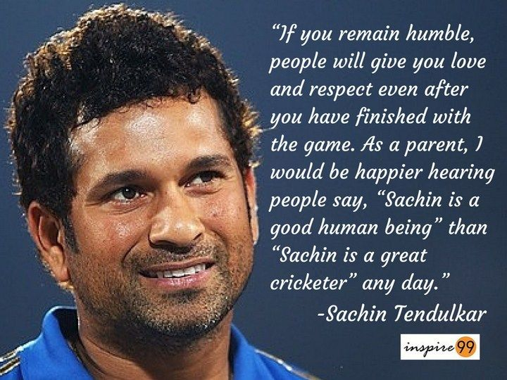 Image result for sachin tendulkar staying humble