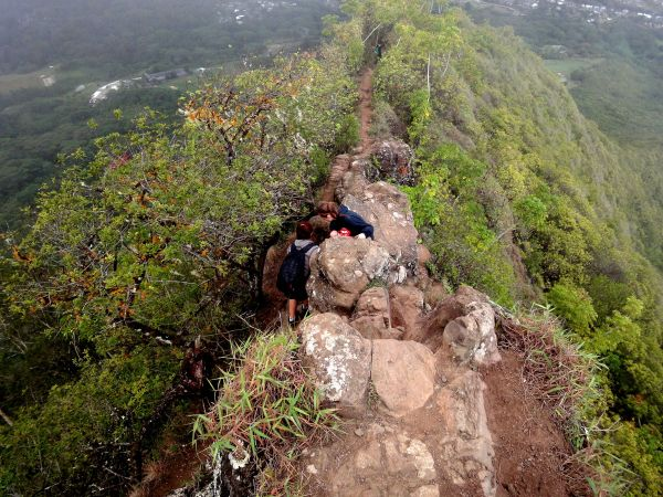Oahu Olomana Hike - Challenging Little Rock Climbing And 1 400 Feet Of Elevation In Mile