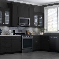 Black Stainless Steel Kitchen Backsplash Tiles For These Samsung Appliances Look