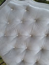 Tufted Headboard King Queen Full Twin Gray by ...