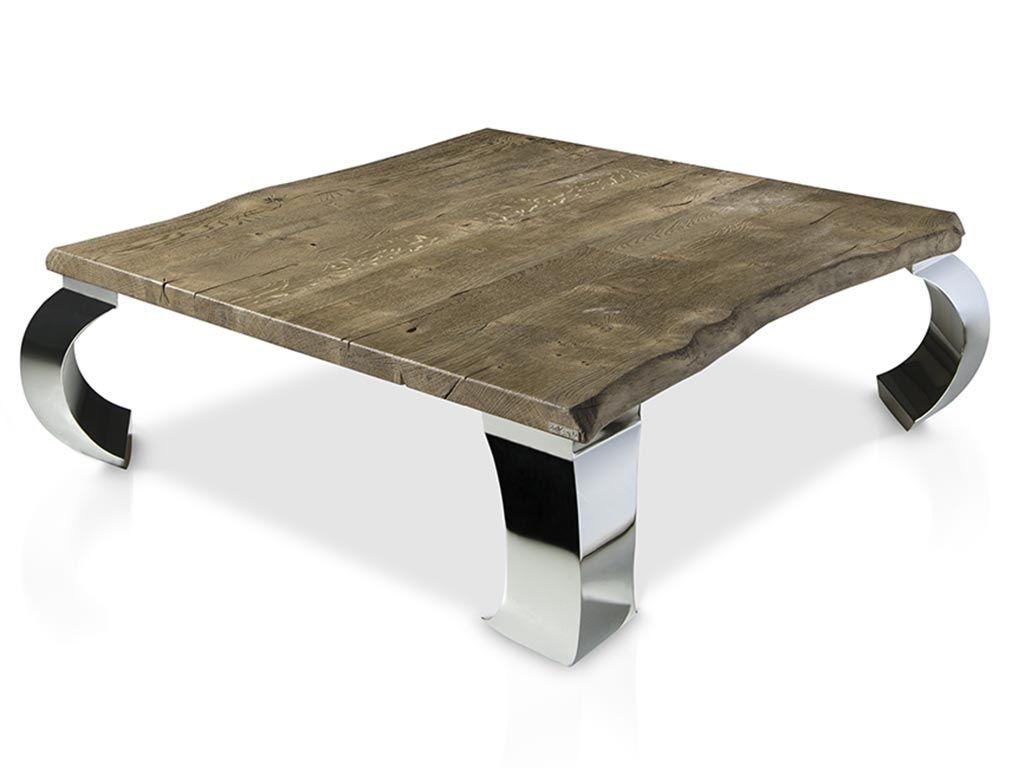 Mesa de centro estilo autodidacta fabricada en madera de