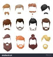 cartoon mens hairstyles