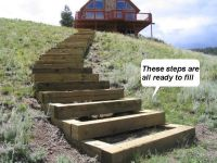 How to build steps up a hill http://www.loststirrup.com ...