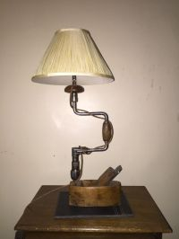 Lamp made from old carpenters tools | room | Pinterest ...