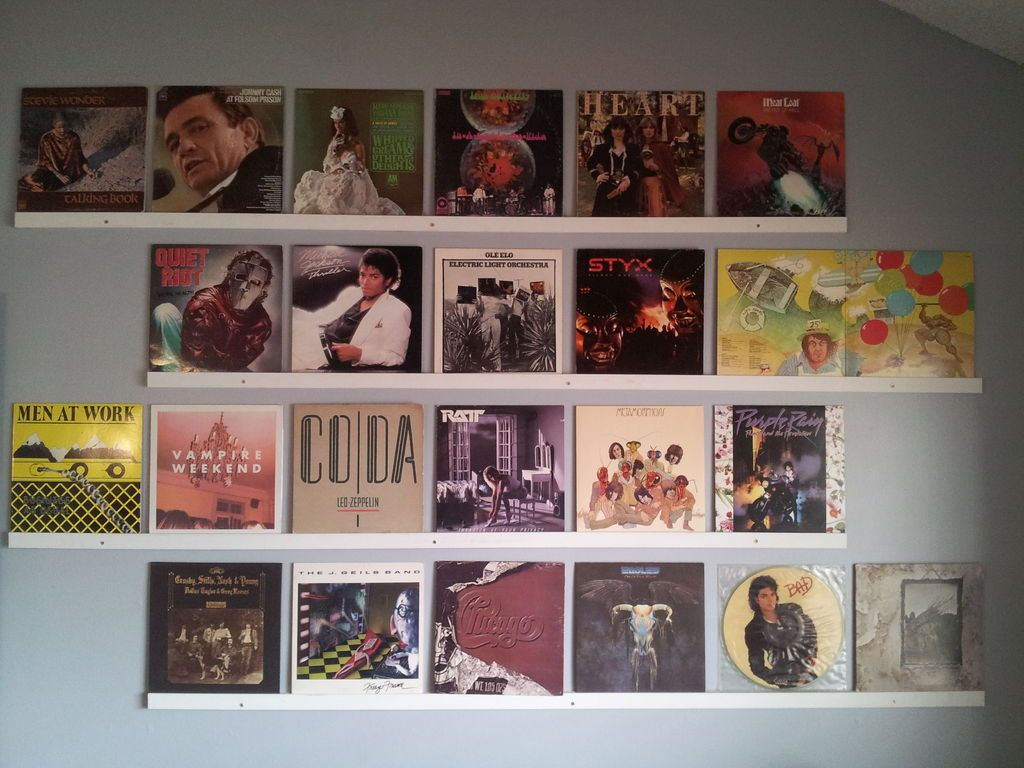 red chair covers for cheap desk perth hang up your old vinyl records! | record wall, storage and decor