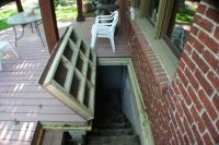 basement with enclosed outside stairs | hidden basement ...