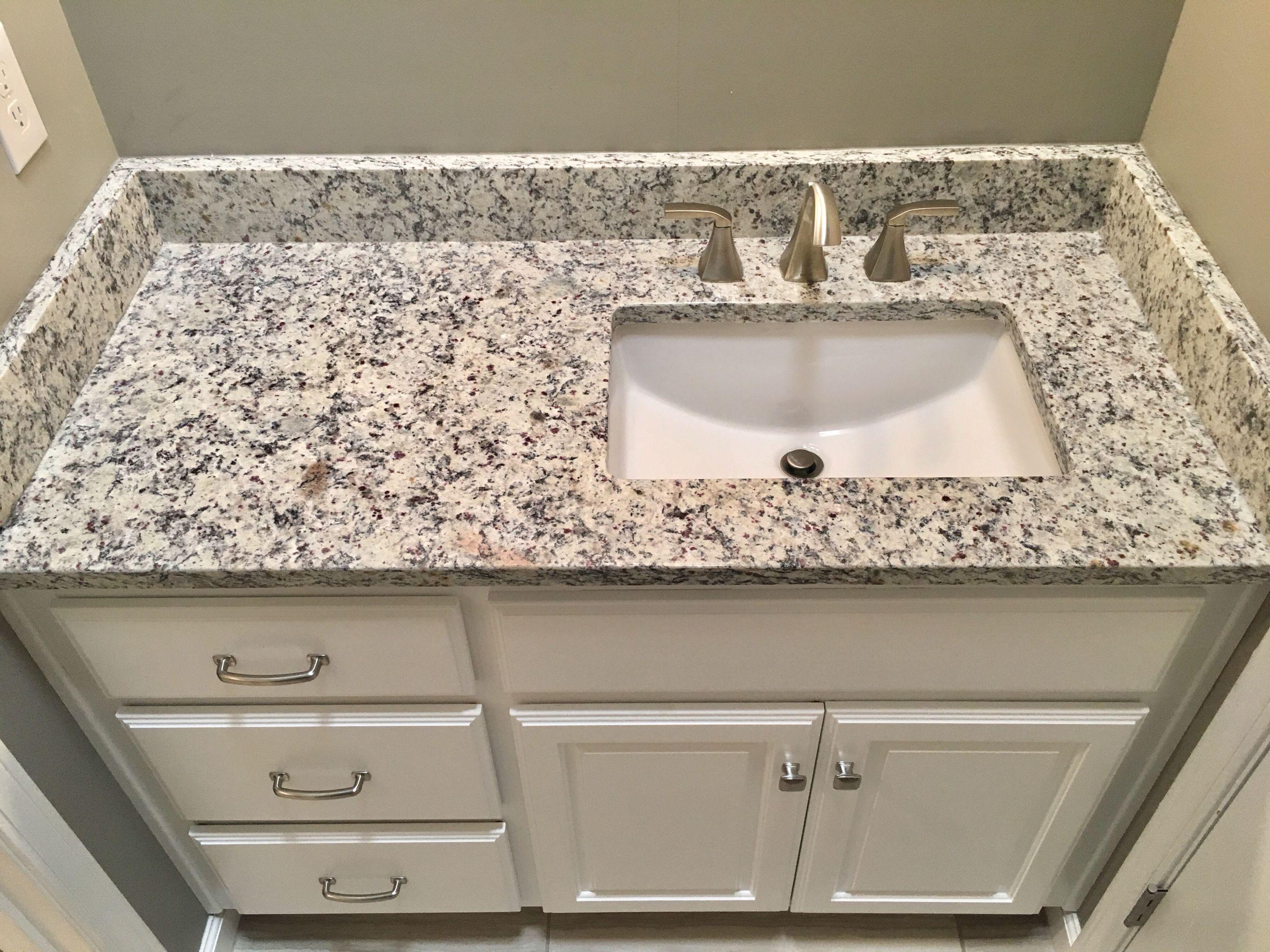 white kitchen sink undermount bags ashen granite countertops moen 8 quot widespread faucet