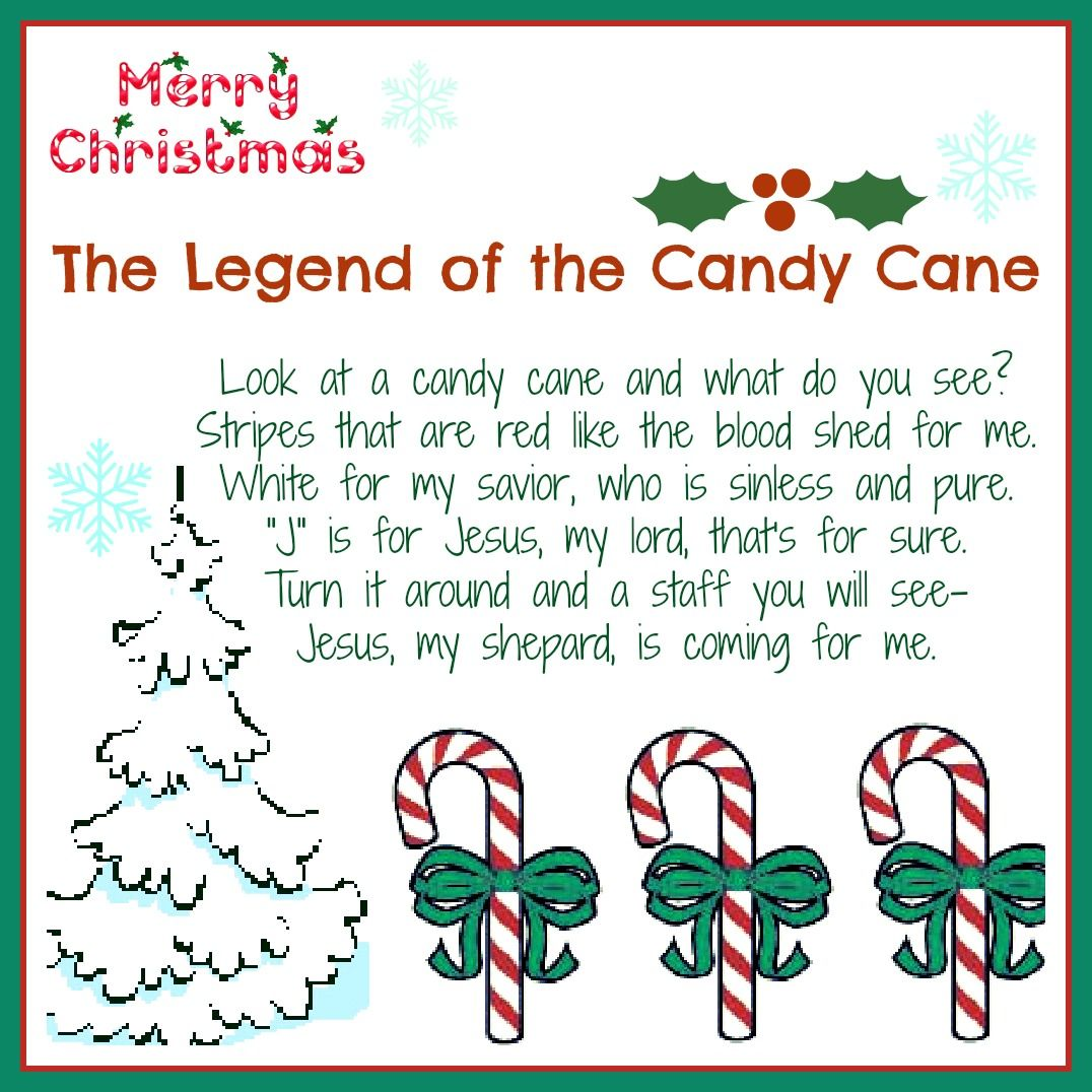 The Legend Of The Candy Cane Free Printable And A Giveaway