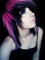 pink and black dyed hair. amazing