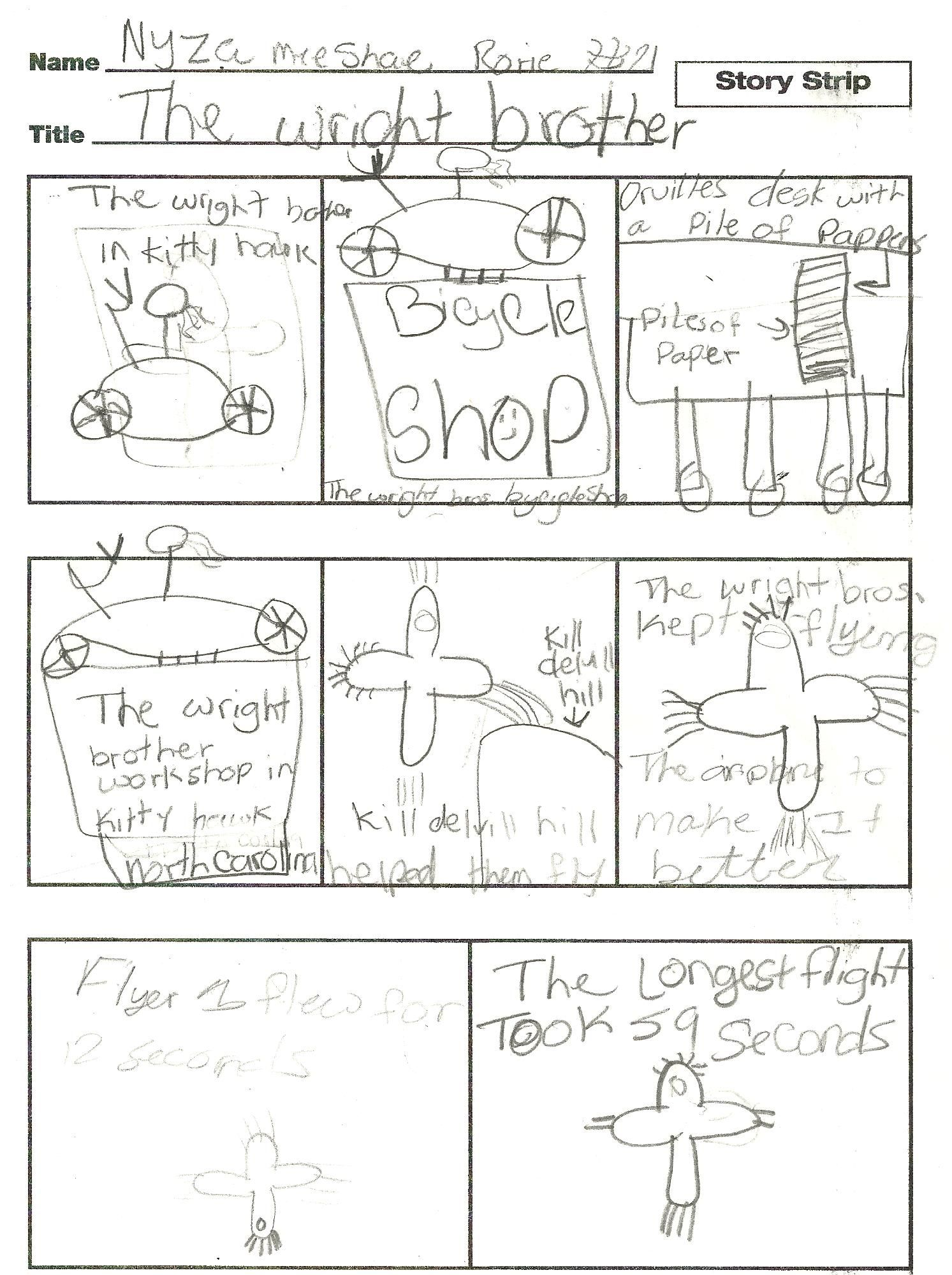 Make Your Own Wright Brothers Comic S
