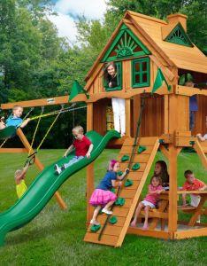 Gorilla playsets navigator treehouse fort swing set also childrens rh pinterest