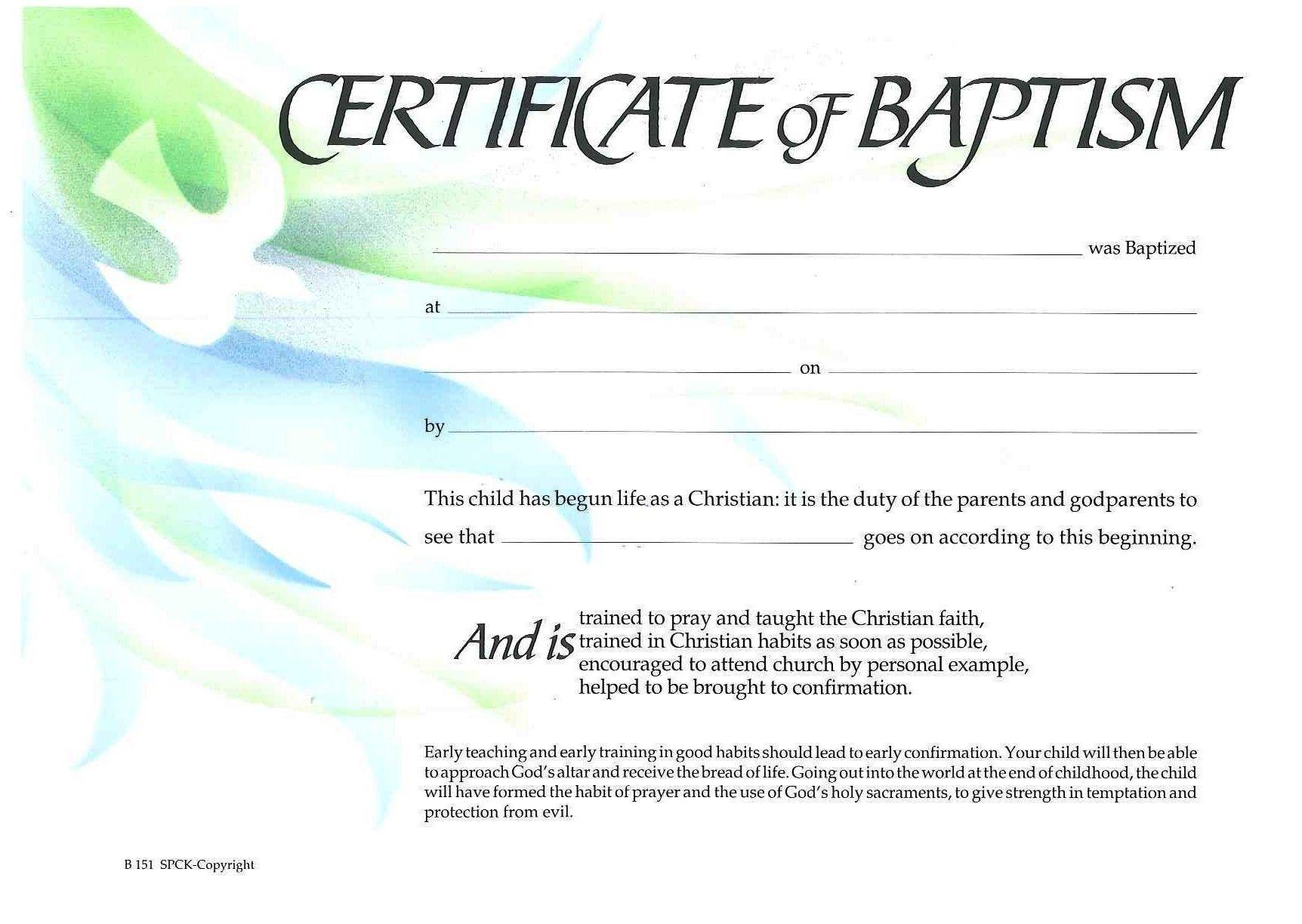 Baptism Certificate Xp4eamuz