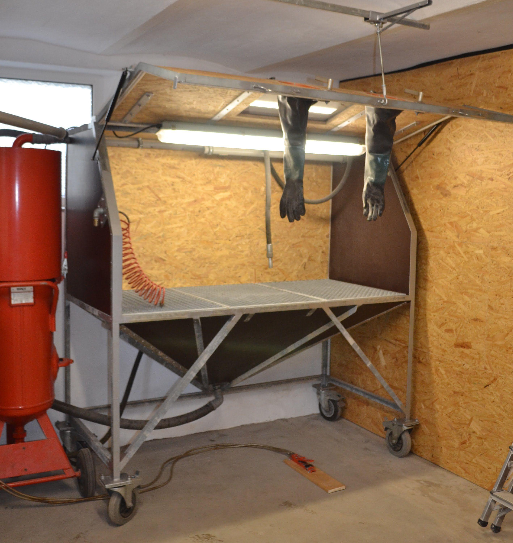Eigenbau Sandstrahlkabine Sandstrahler DIY Sandblasting