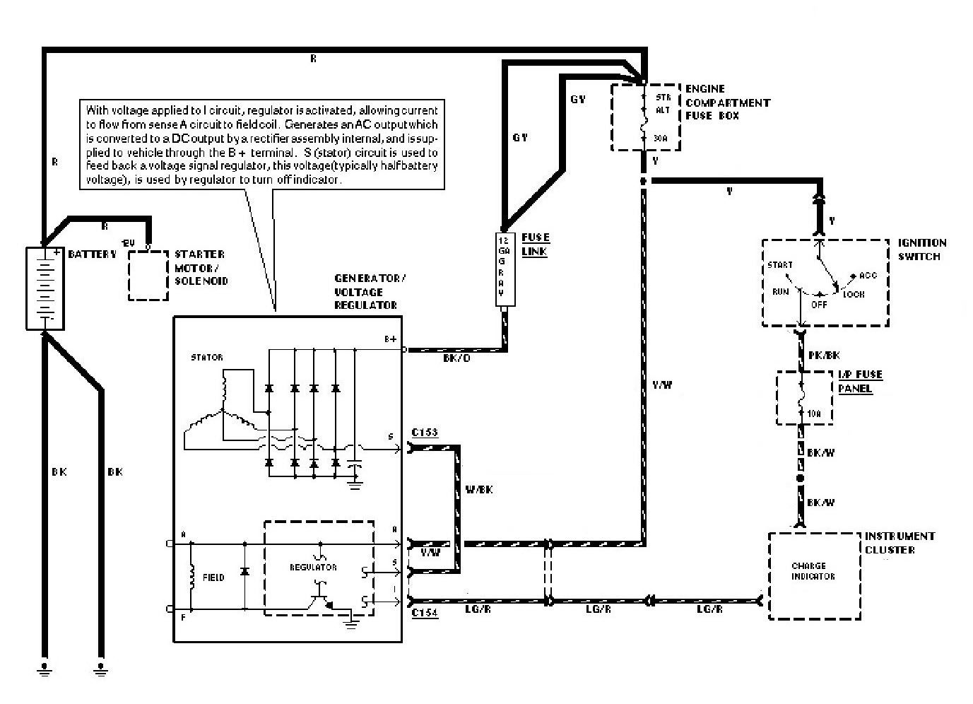 alternator internal wiring diagram 7 3 liter diesel engine regulator