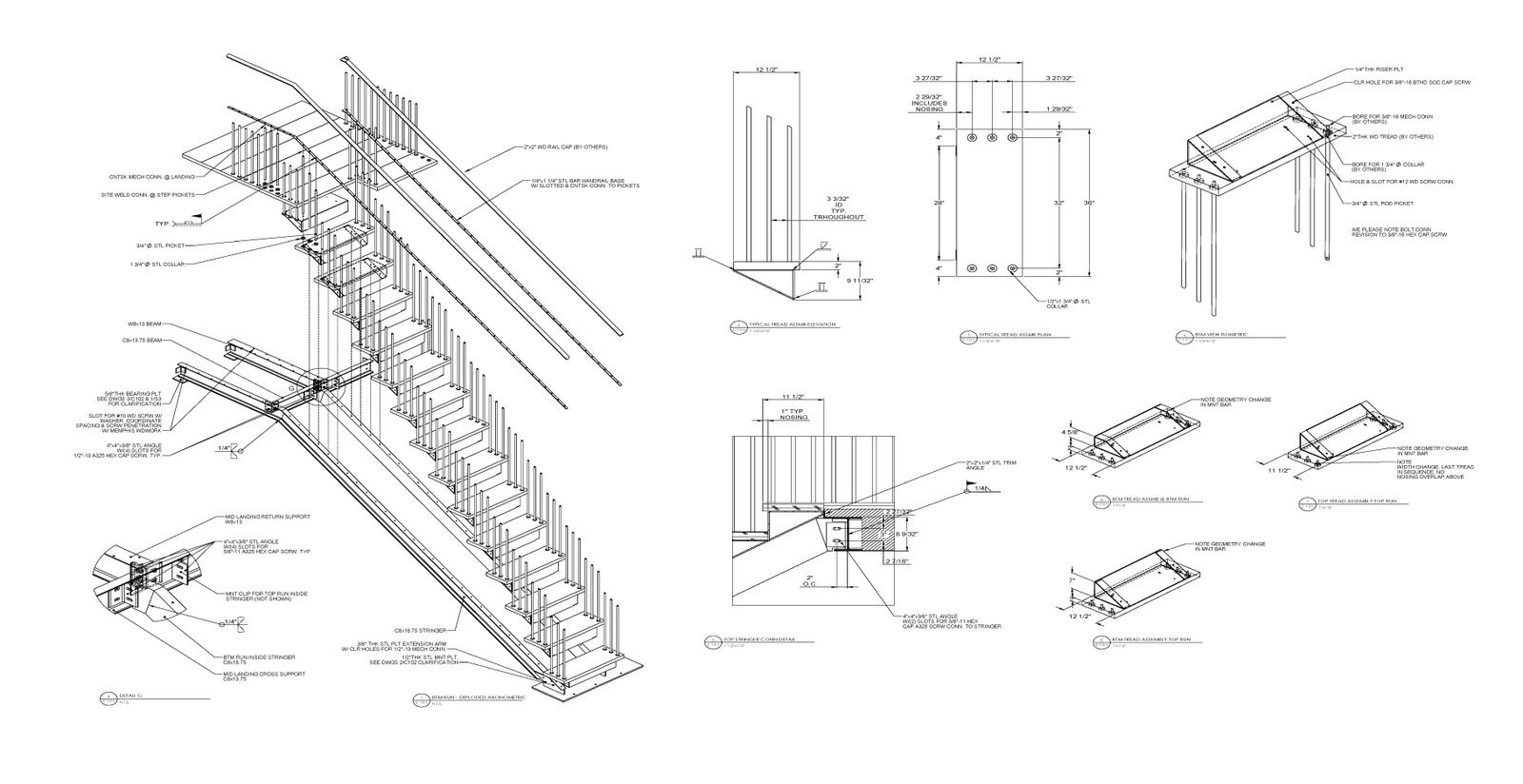 Metal Stair Construction Details Drawings View Mountain