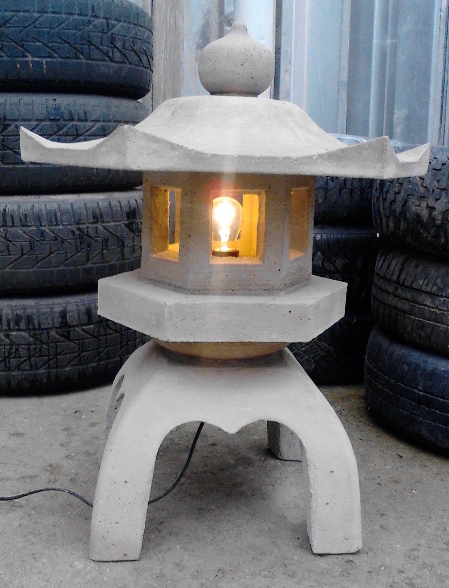 Making a concrete japanese lantern  lanterns  Pinterest