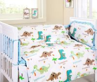 Baby Bedding Crib Cot Sets - Cute Dinosaurs Theme ...