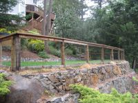 backyard fence ideas | backyard fence surrounded by forest ...