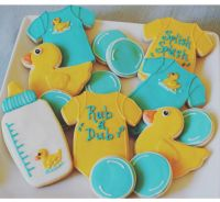 Rubber ducky baby shower cookies  | Pinteres