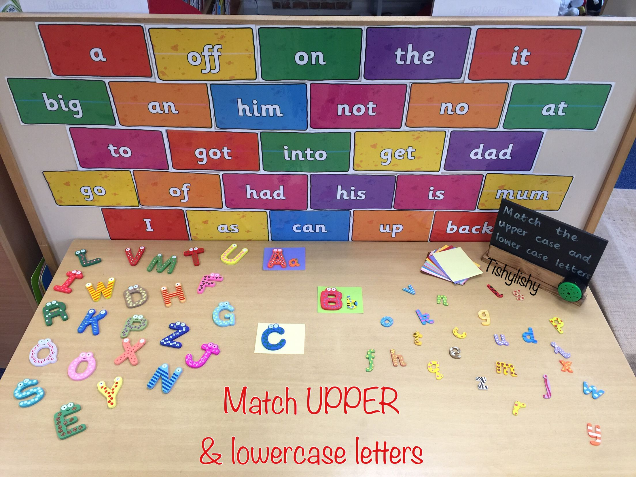 Match Upper And Lowercase Letters On The Phonic Challenge Table