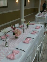 My sister's baby shower! Table setting   Party Ideas ...