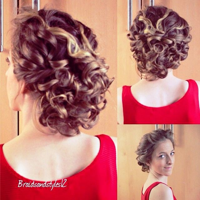 Updo Hairstyles For Short Curly Hair Hairstyles Galleries