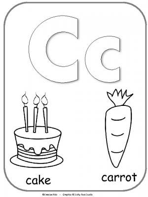 Letter C Alphabet Printable For Coloring. This is a fun