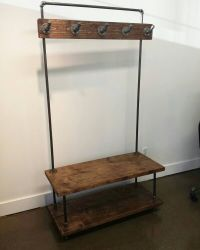 Industrial pipe and wood entry coat rack by ...