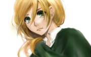 crying anime girl with short blonde
