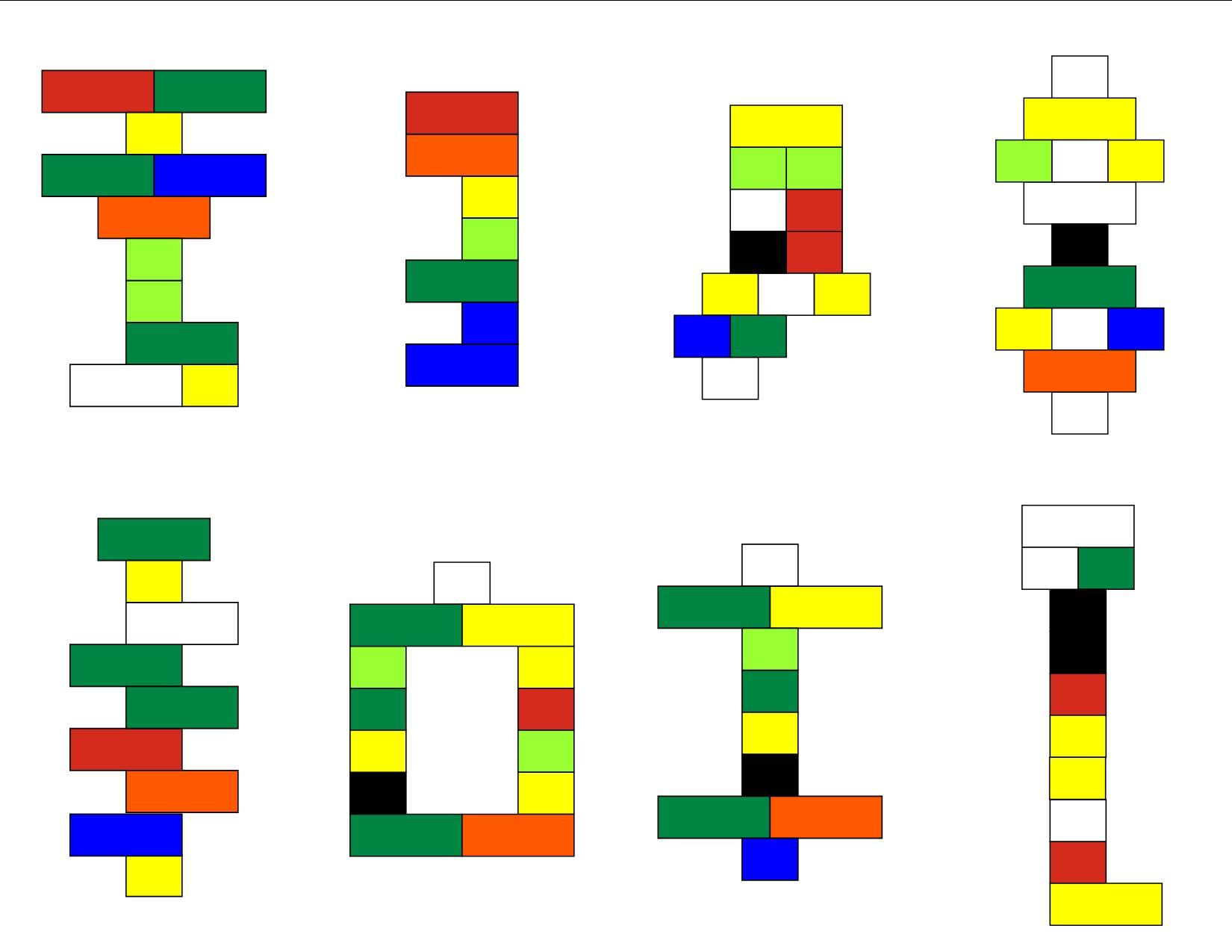 Affichage De Lego Kit Cards Original Colors Pg 3