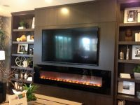 Modern Entertainment wall with fireplace | TV Wall ...