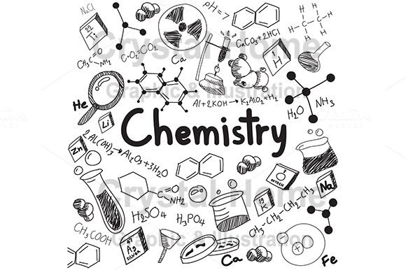 Chemistry education doodle icon by Crytal Home Images on