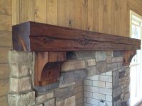 Rustic timber mantel with corbels By burruscompany.com ...