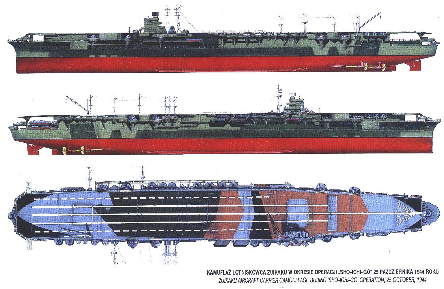 aircraft carrier diagram vdo voltmeter gauge wiring ijn zuikaku warships 70