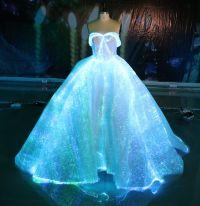 Fiber Optic Wedding Dress RGB LED Light up Wedding Gown ...