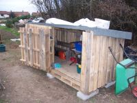 Wood Pallet Building Plans | Pallet Shed http ...